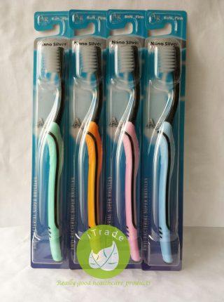 Korea EQ Nano Silver Ag Toothbrush Small (Black Handle)